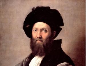 Портрет Бальдассаре Кастильоне. Фрагмент.