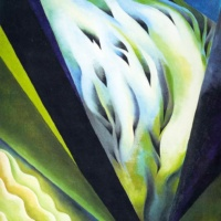 Синяя и зеленая музыка. Джорджия О'Кифф.