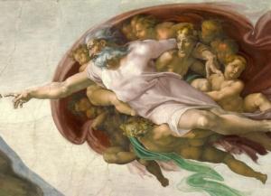 Сотворение Адама. Фрагмент.