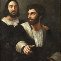 Рафаэль Санти. Автопортрет с другом.