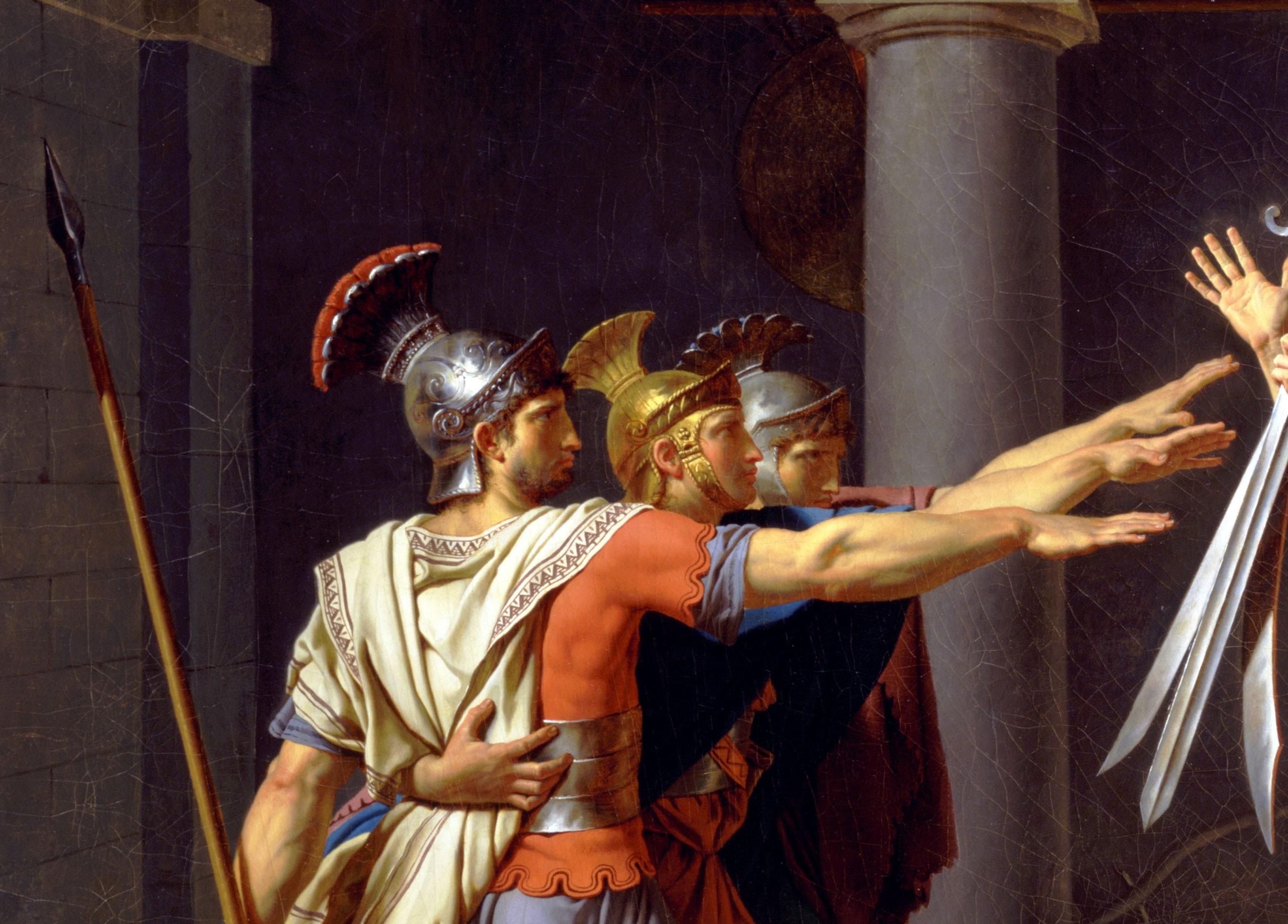 Клятва Горации. Фрагмент.