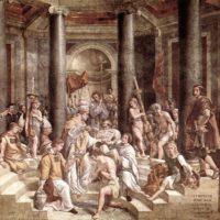 Рафаэль Санти. Крещение Константина.