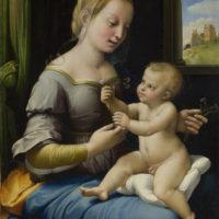 Рафаэль Санти. Мадонна с гвоздиками.