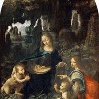 Мадонна в скалах. Лувр. Леонардо.