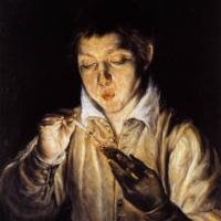 Эль Греко. Мальчик, раздувающий лучину