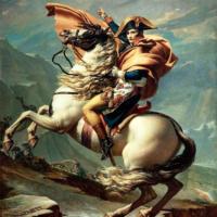 Жак-Луи Давид. Наполеон на перевале Сен-Бернар.