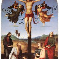 Рафаэль Санти. Распятие с Девой Марией, святыми и ангелами.