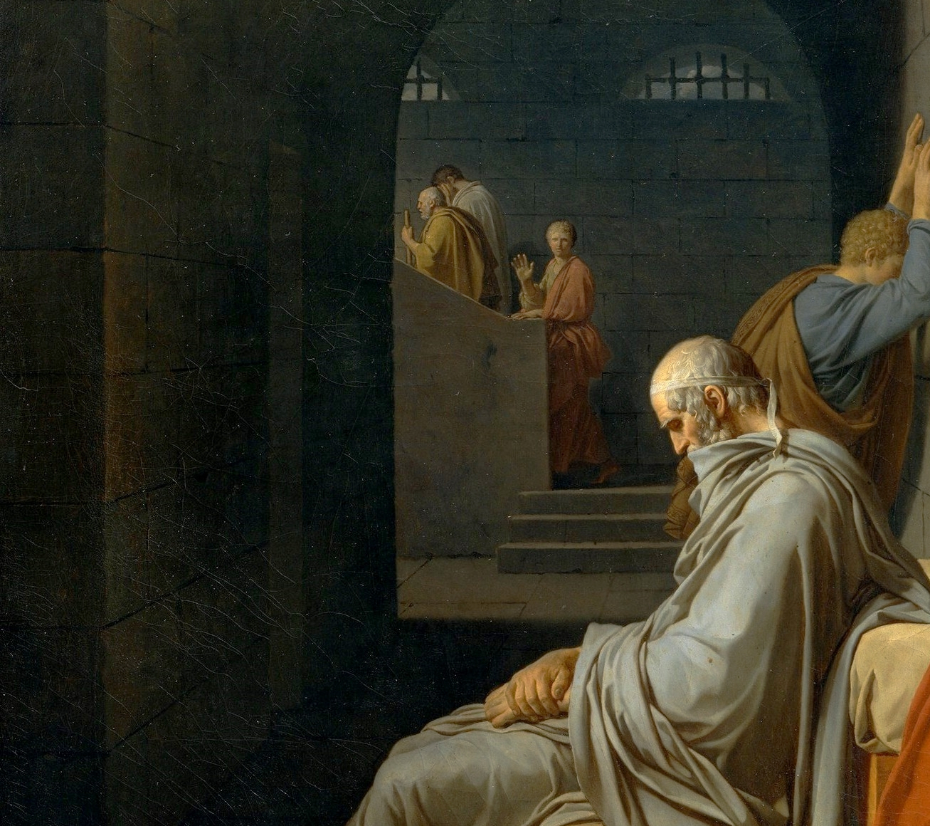 Смерть Сократа. Фрагмент.