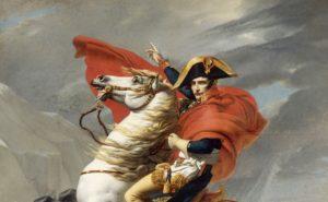 Наполеон на перевале Сен-Бернар. Фрагмент. Версаль (первая версия).