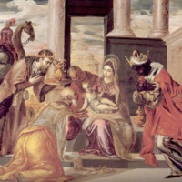 Эль Греко. Поклонение волхвов (Афины)