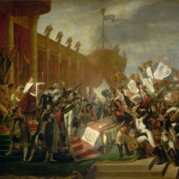 Жак-Луи Давид. Раздача императорских знамён.