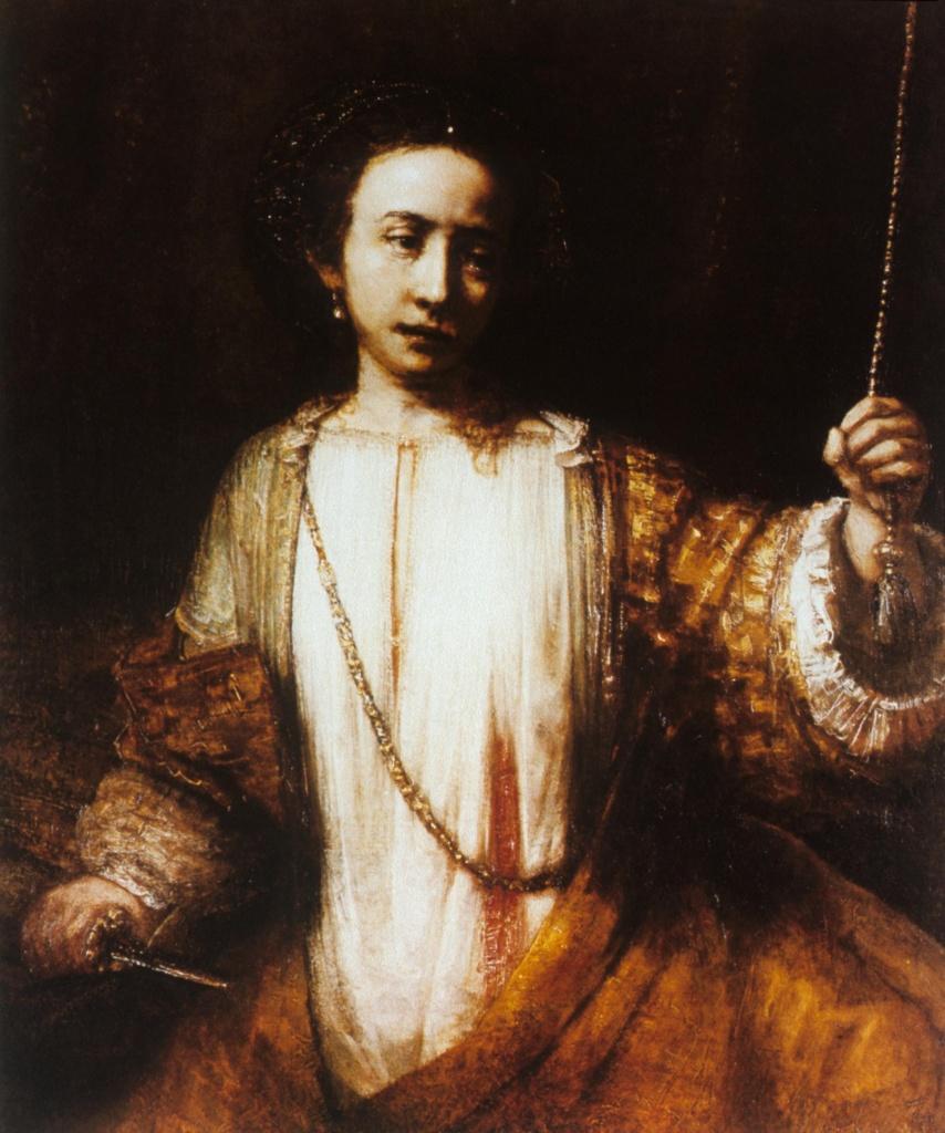 Самоубийство Лукреции. Рембрандт.