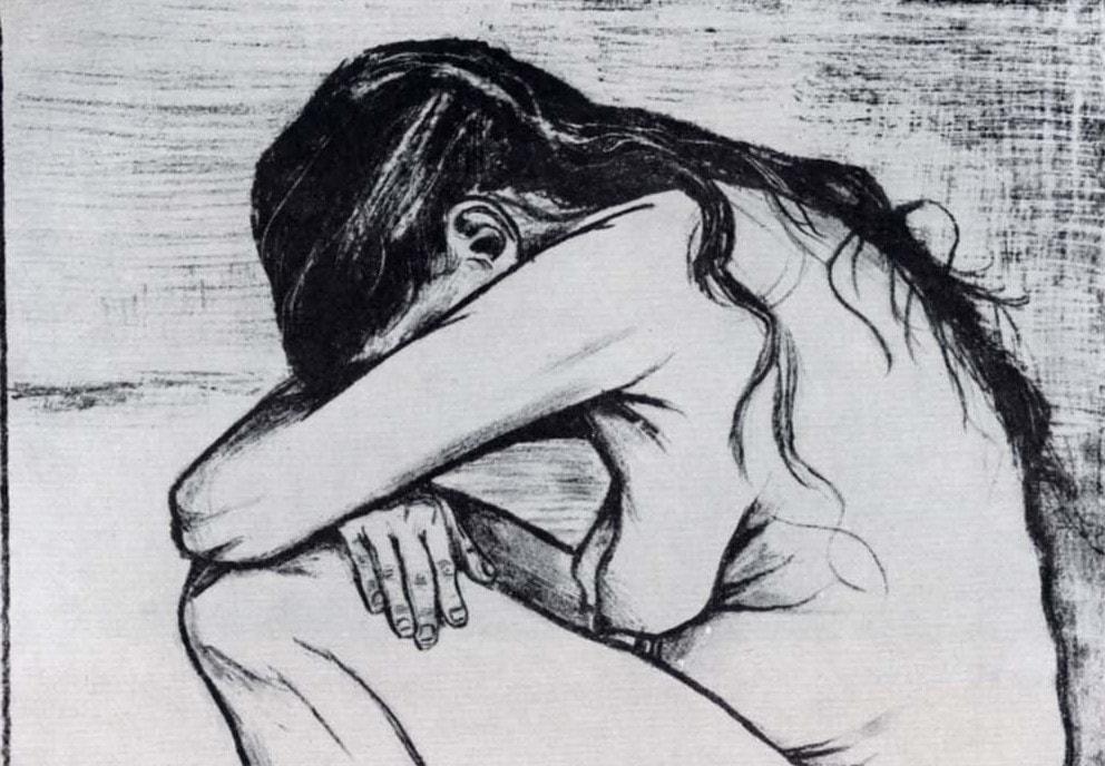 Скорбь. Ван Гог. Фрагмент.