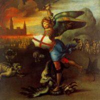 Рафаэль Санти. Святой Михаил и дракон.