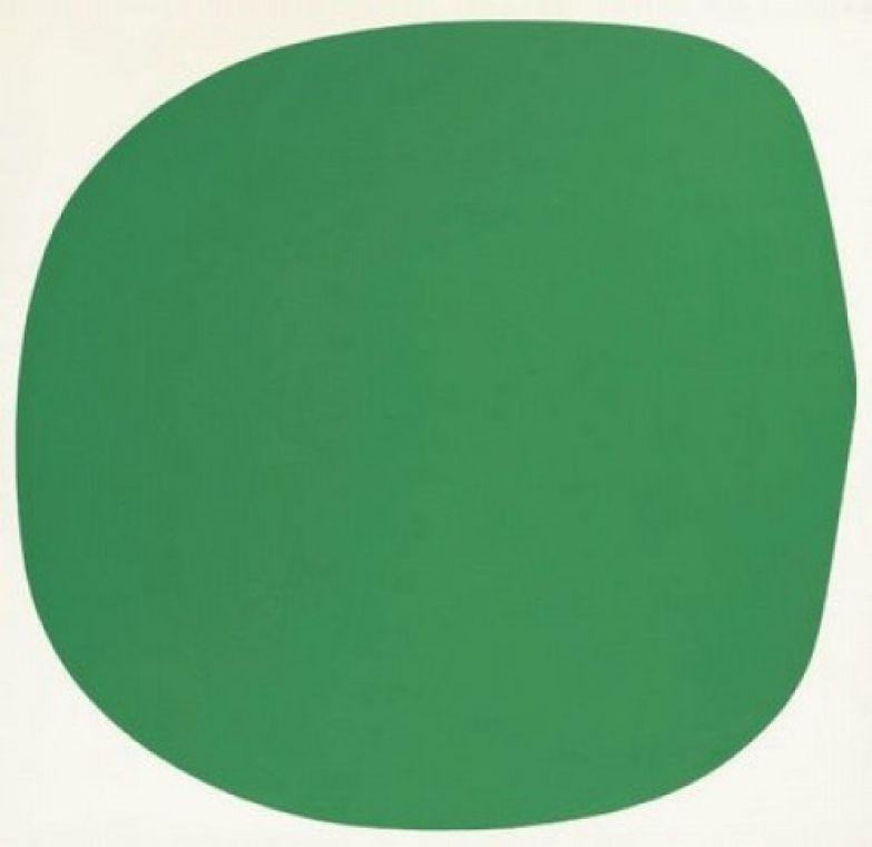 Зеленая клякса. Эльсуорт Келли.
