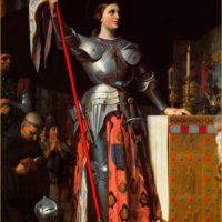 Энгр. Жанна д'Арк на коронации Карла VII.