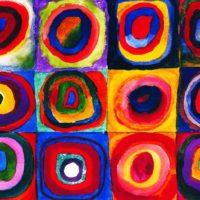 Квадраты с концентрическими кругами. Кандинский.
