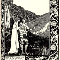 Бёрдслей. Ланселот и ведьма Хелависа.
