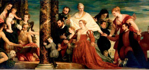 Мадонна с семейством Куччина. Веронезе.