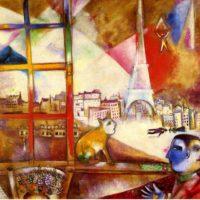 Париж через окно. Шагал.