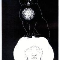 """Бёрдслей. К рассказу """"черный кот""""."""