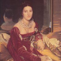 Портрет мадам Сеннон. Энгр.