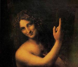 Иоанн Креститель. Фрагмент. Леонардо.