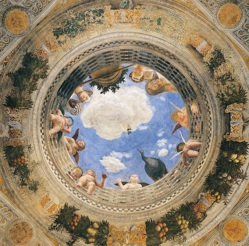 Купольная фреска Камеры дельи Спози. Андреа Мантенья.