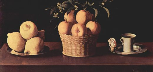 Натюрморт с лимонами, апельсинами и розой. Сурбаран.