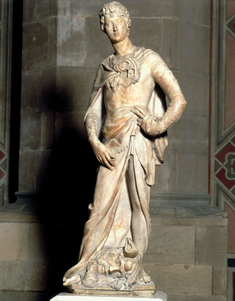 essay on donatello 3 davids, 3 theologies: donatello, michelangelo and bernini one of the best known art works in the world: michelangelo's david, completed in 1504, florence you can click on any of the images to enlarge them (nb: this post was significantly updated february 28, 2015.
