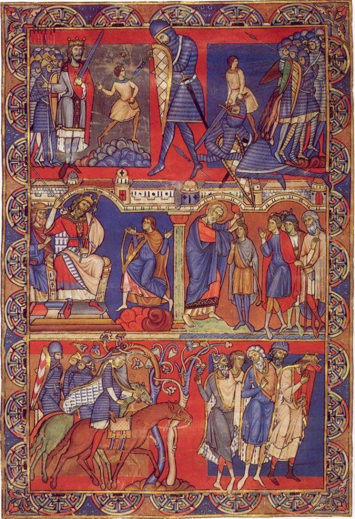 Сцены из жизни Давида. Библиотека уинчестерского собора.