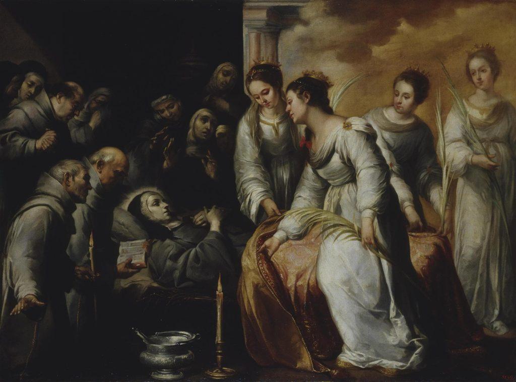 Смерть святой Клары. Фрагмент.