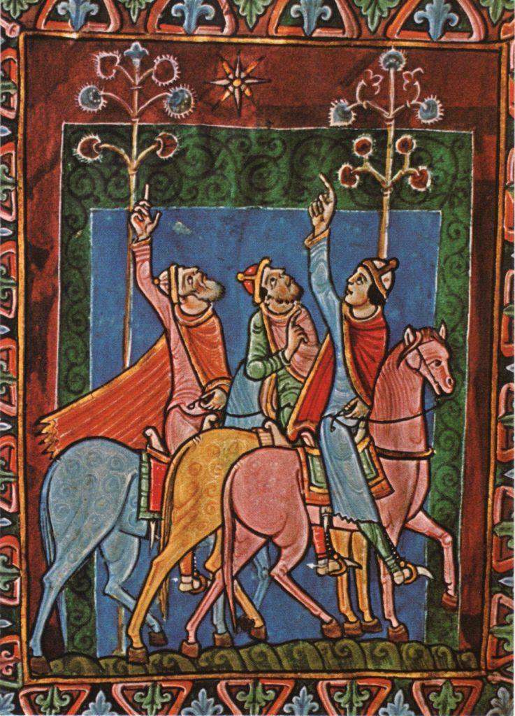 Три волхва из псалтыря Св. Олбана.