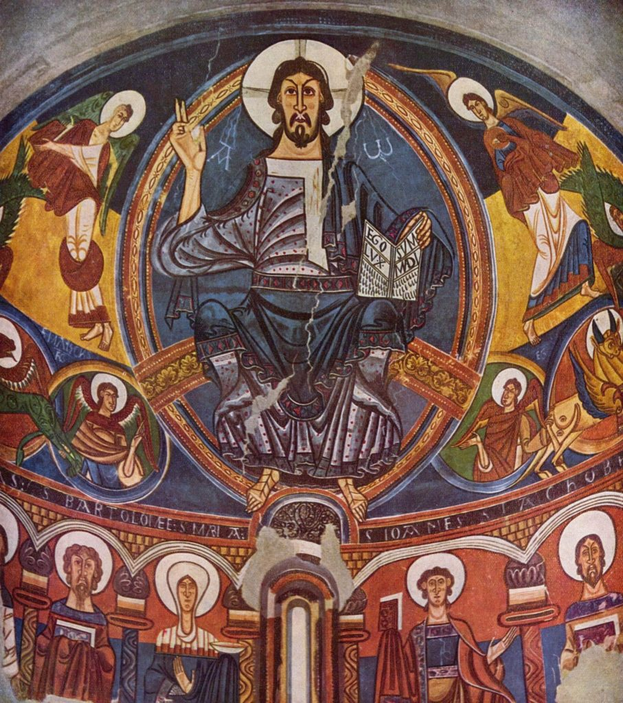 Фреска в церкви Сан Клементе.