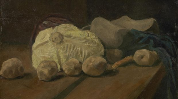 Натюрморт с капустой и башмаками. Ван Гог.