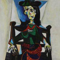Дора Маар с кошкой. Пикассо.