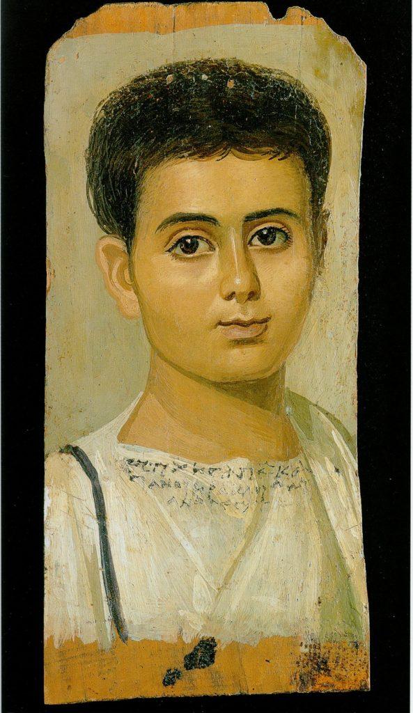 Портрет мальчика по имени Евтихий. Фаюмские портреты.