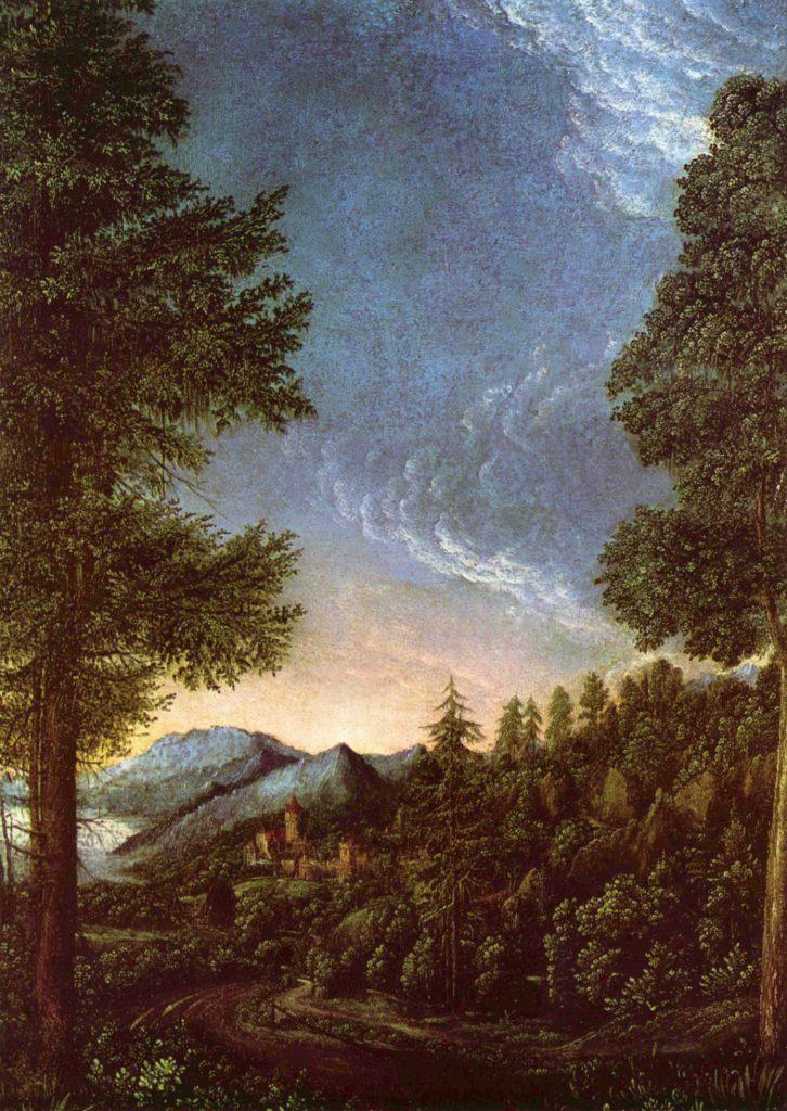Дунайский ландшафт с замком Верт у Регенсбурга. Альтдорфер.
