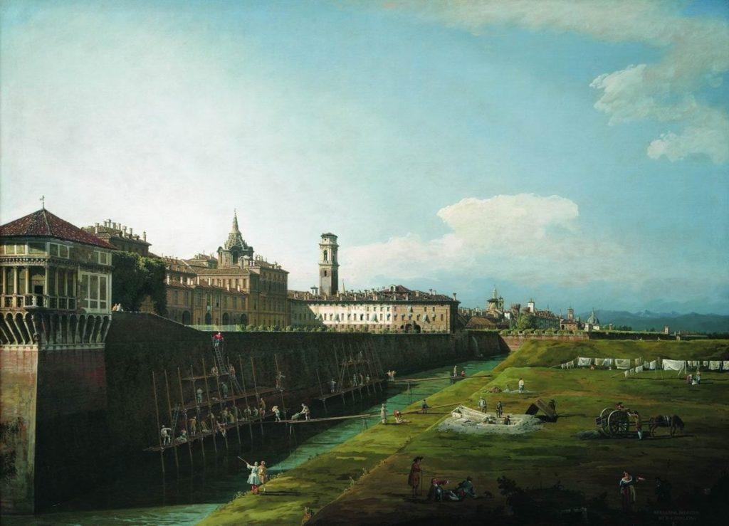 Вид Турина с королевским дворцом. Бернардо Беллотто.