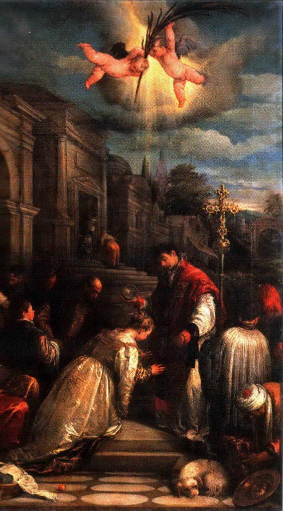 Крещение святого Лучиллы. Якопо Бассано.