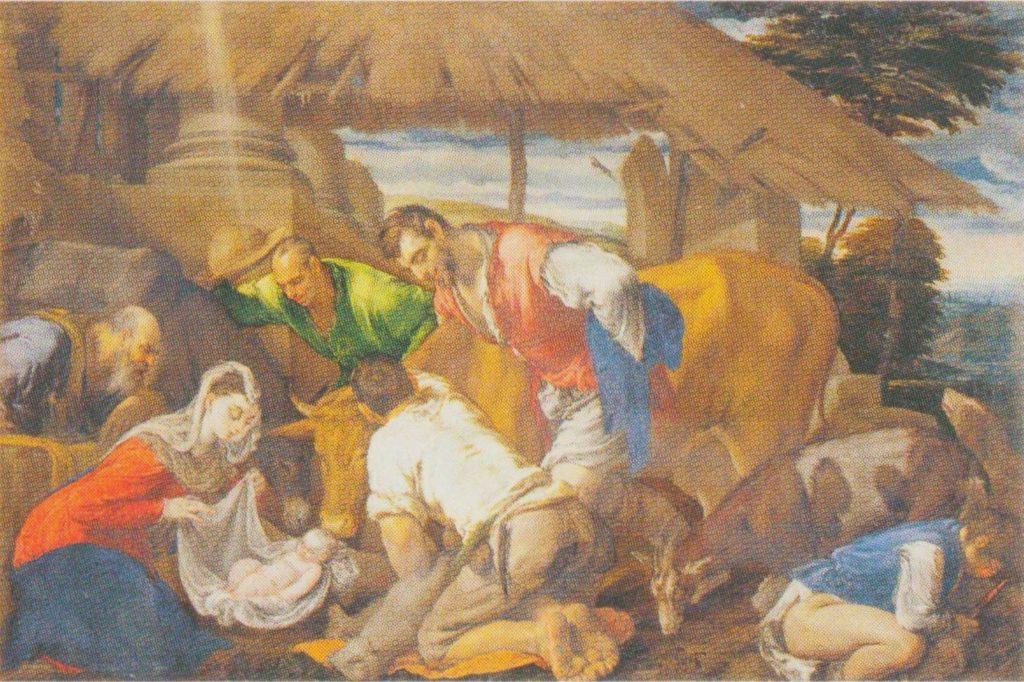 Поклонение пастухов. Якопо Бассано.