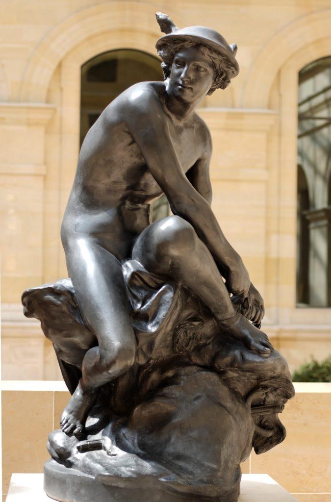 Меркурий, завязывающий сандалию Жан-Батист Пигаль.
