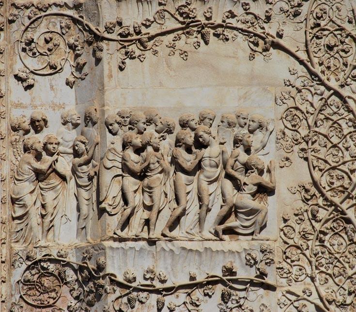 Рельефы фасада Орвието. Лоренцо Майтани.