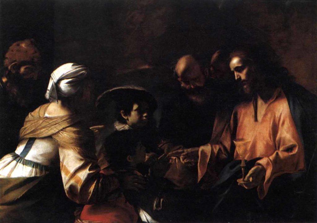 Христос, благословляющий детей. МаттиаПрети.