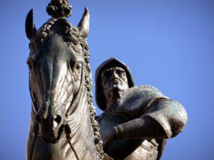 Конная статуя Бартоломео Коллеони. Верроккьо. Фото.