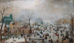Зимний пейзаж с забавами на льду. Хендрик Аверкамп.