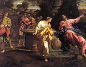 Иисус с самаритянкой. Карраччи.