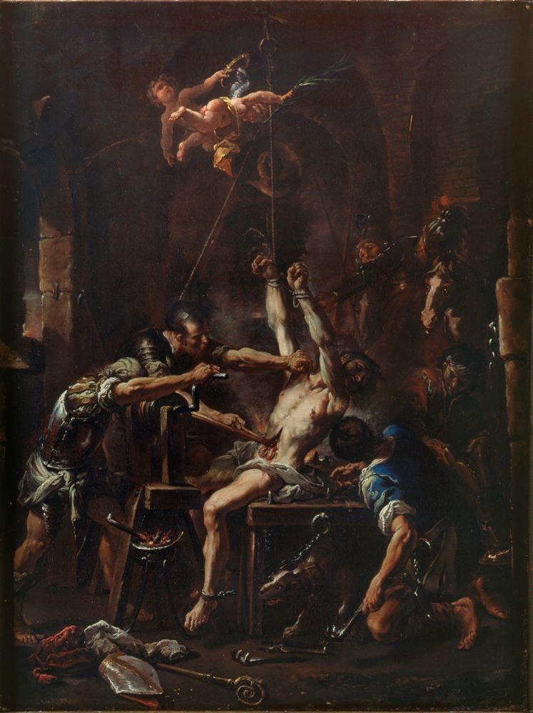 Мученичество святого Еразма. Себастьяно Риччи.