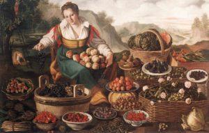 Продавщица фруктов. Винченцо Кампи.