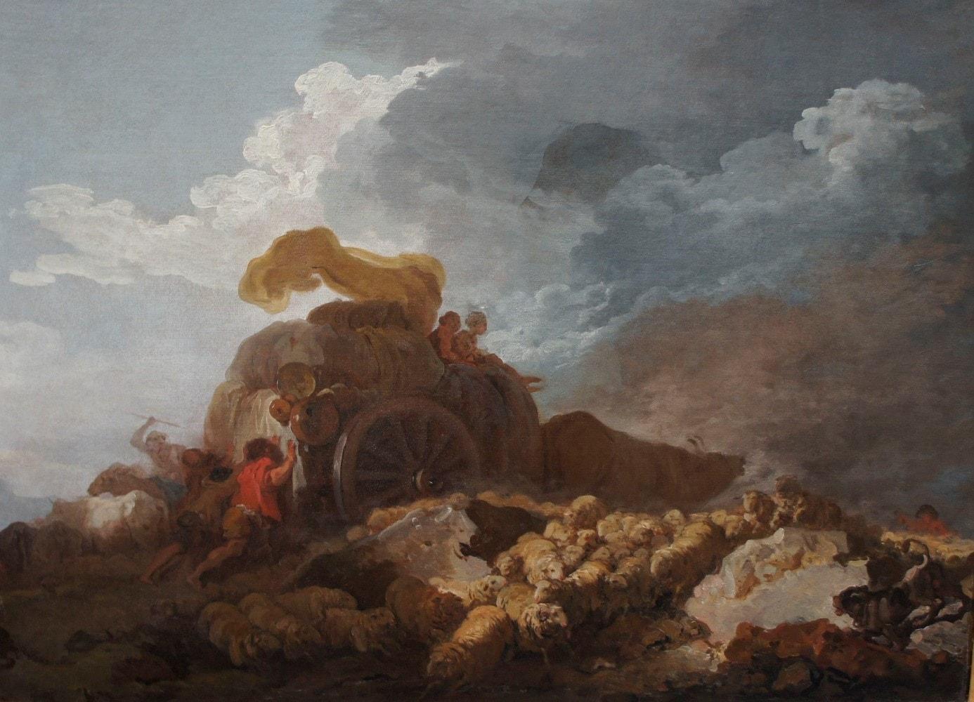 Воз в грязи. Жан Оноре Фрагонар.